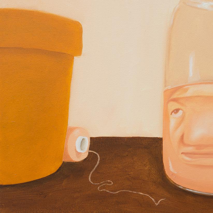 Selbstporträt als Rhabarberwasser Detail